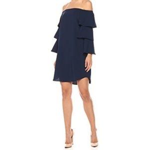 Nanette Lepore Off Shoulder Ruffle Sleeve Dress